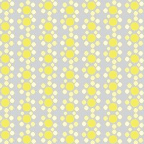 16-15H Abstract floral in pale lemon and gray_Miss Chiff Designs