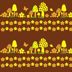 Mushrooms-Line daisies