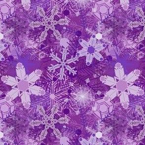 Snowflakes in Purple