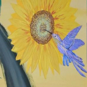 Hummingbird & Sunflower (large)