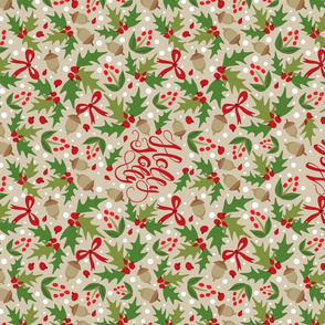 Tea Towel-Festive Holly Jolly