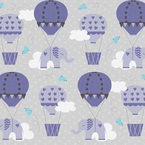 Purple Hot Air Balloon Elephant