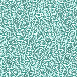 mini butterfly swirl - teal green