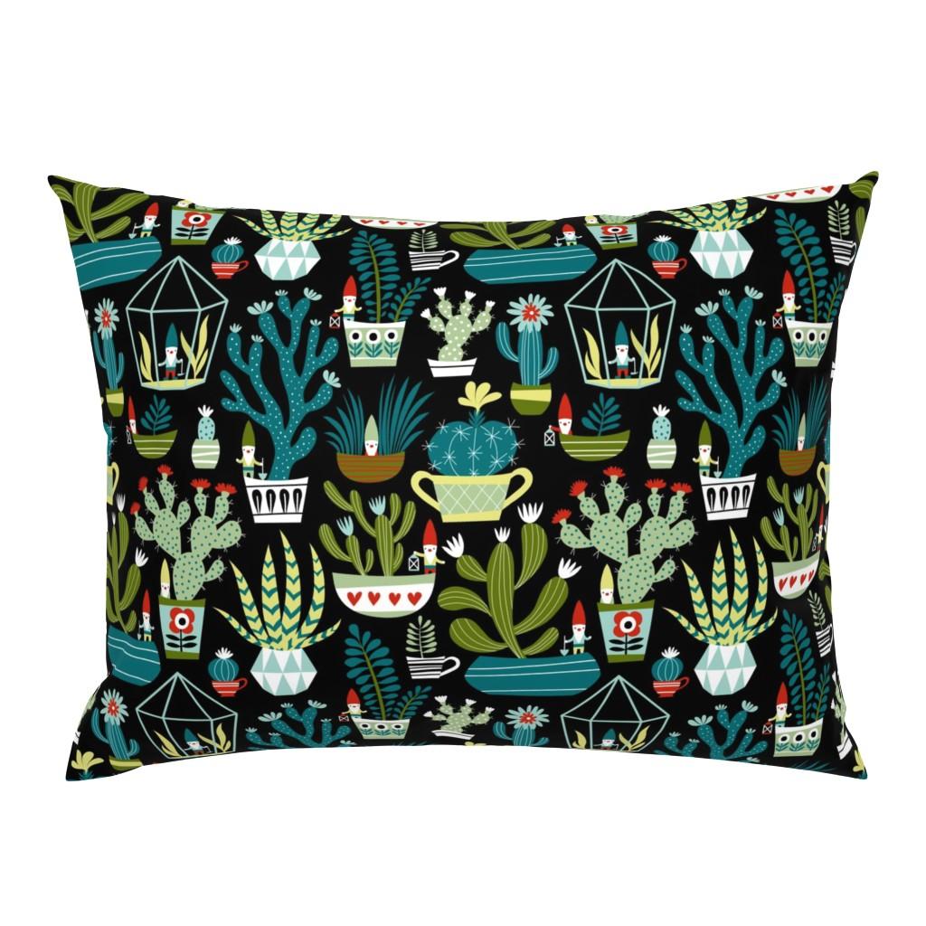 Campine Pillow Sham featuring mini garden gnomes by mirabelleprint