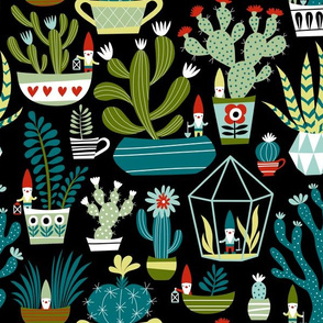 Mini Garden Gnomes / Black Background