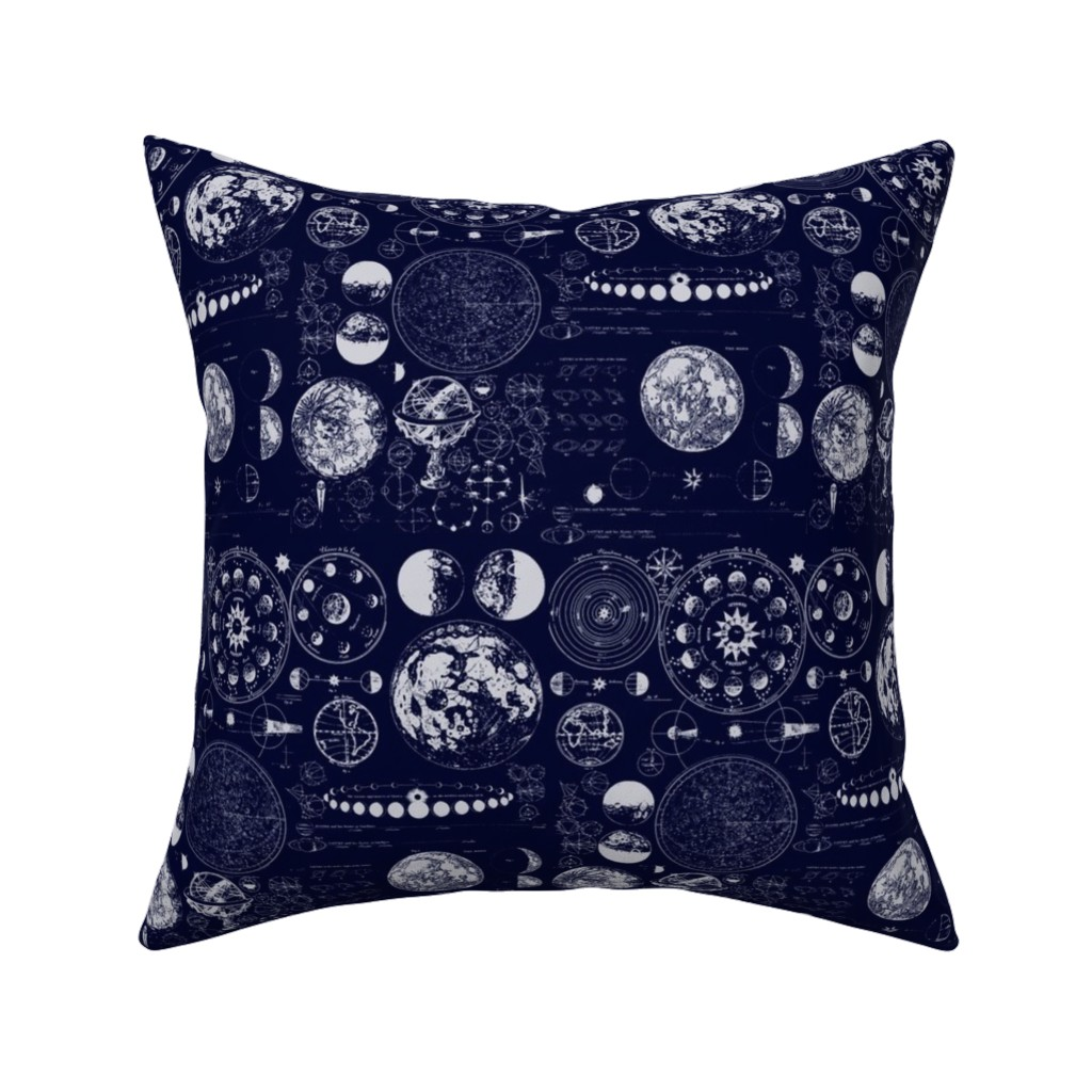 Catalan Throw Pillow featuring Star Maps by sharksvspenguins
