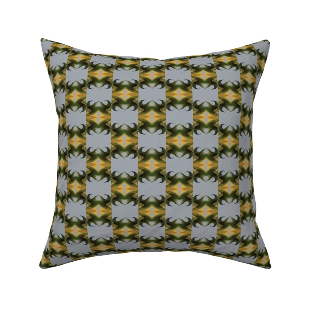 Catalan Throw Pillow featuring The Rising, small checkerboard by maryyx