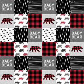 """3"""" small scale - baby bear patchwork quilt top 