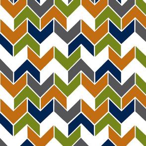 Orange Navy Lime Geometric