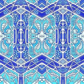 Blue Zig Zag Fandango