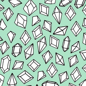 crystals // gems mint gemstones fabric gem design andrea lauren fabric andrea lauren design