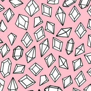 crystals // gem fabric gemstones geodes pink pastel fabric andrea lauren crytsals design