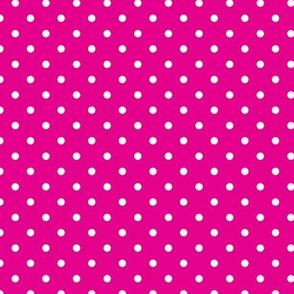Polka Dot - White on Pink