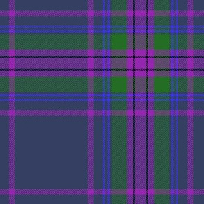 "Spirit of Scotland tartan - grey 7"""