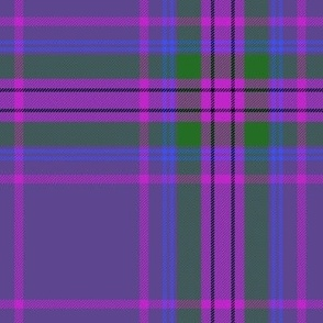 "Spirit of Scotland tartan - purple 7"""