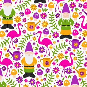Gnome Garden (Pink and Purple)