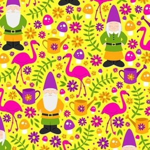 Gnome Garden (Pink, Purple and Yellow)