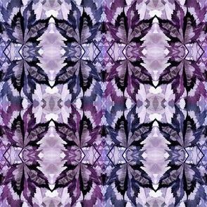 Watercolor Leaf-Indigo and Purple