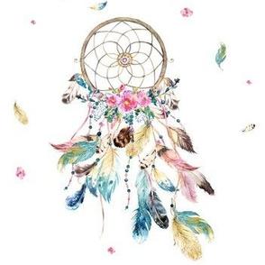 """7"""" Bohemian Dreams / Free Falling Florals - White"""