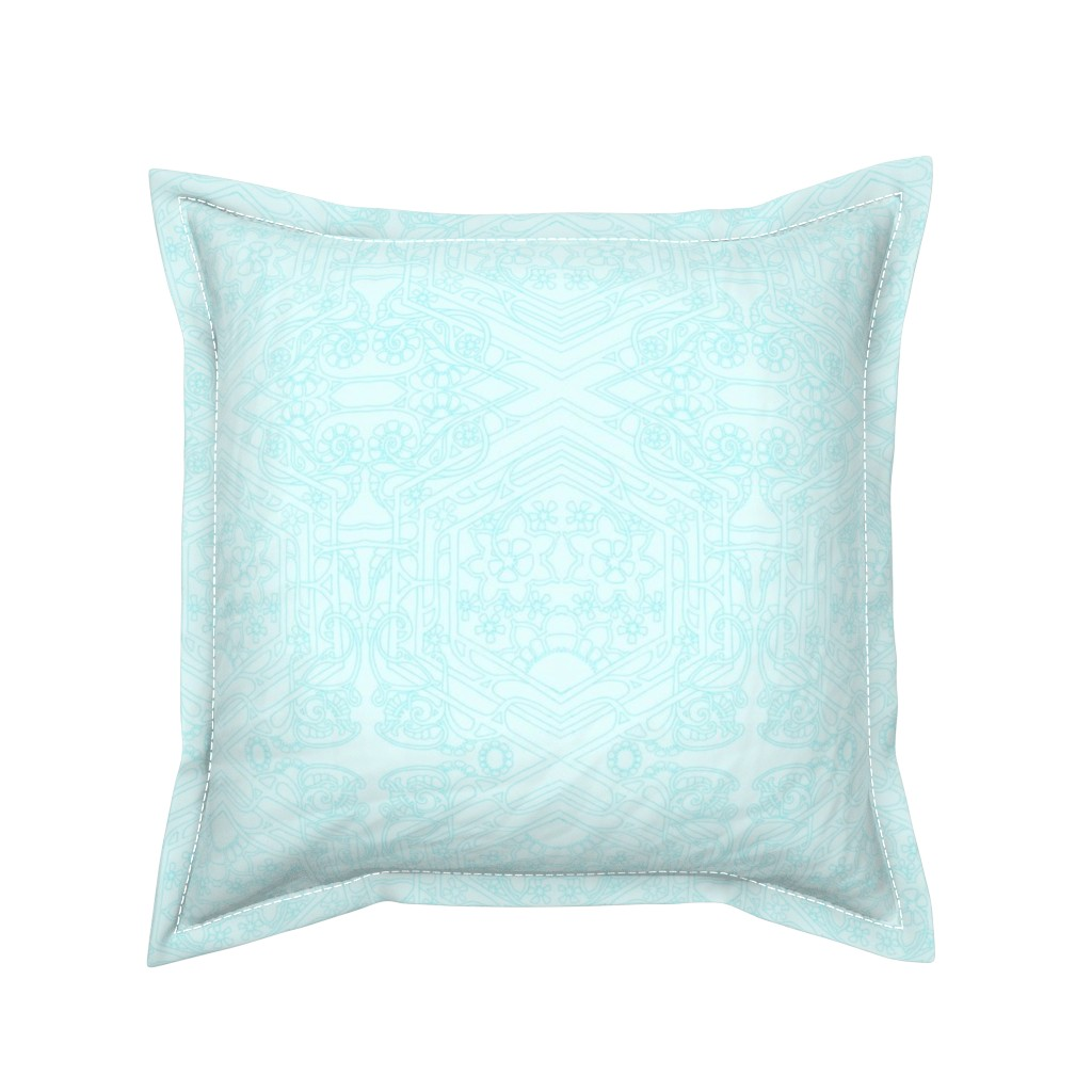Serama Throw Pillow featuring Ghosts of the Aqua Blues by edsel2084