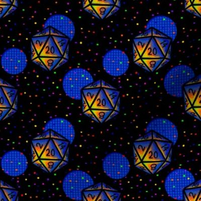 Arcade Carpet D20 Spoonflower