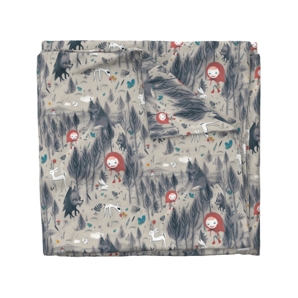Wyandotte Duvet Cover featuring little red riding hood* by boomexd