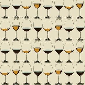 Retro Wine Glasses A
