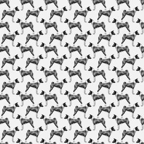 Small Standing Basenji - gray