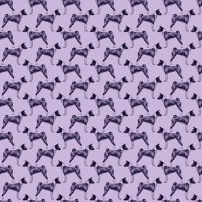 Small Standing Basenji - purple