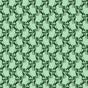 Posing Brussels Griffon - small green