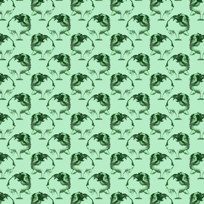Frolicking Japanese Chin - small green