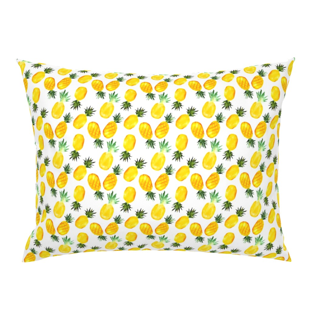 Campine Pillow Sham featuring Watercolor pineapples by katerinaizotova