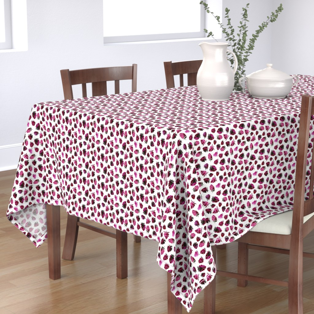 Bantam Rectangular Tablecloth featuring Watercolor blackberries by katerinaizotova