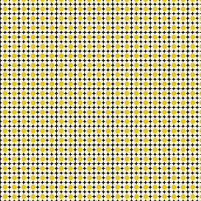 Yellow, White and Black Ditsy MinitureRetro Dolly Ditsy Floral-ch