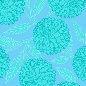 Turquoise  Dahlias