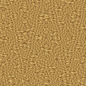 small art nouveau swirls - caramel and brown