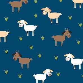 goat on navy