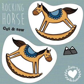 Swatch // 8 inch // cut and sew // rocking horse