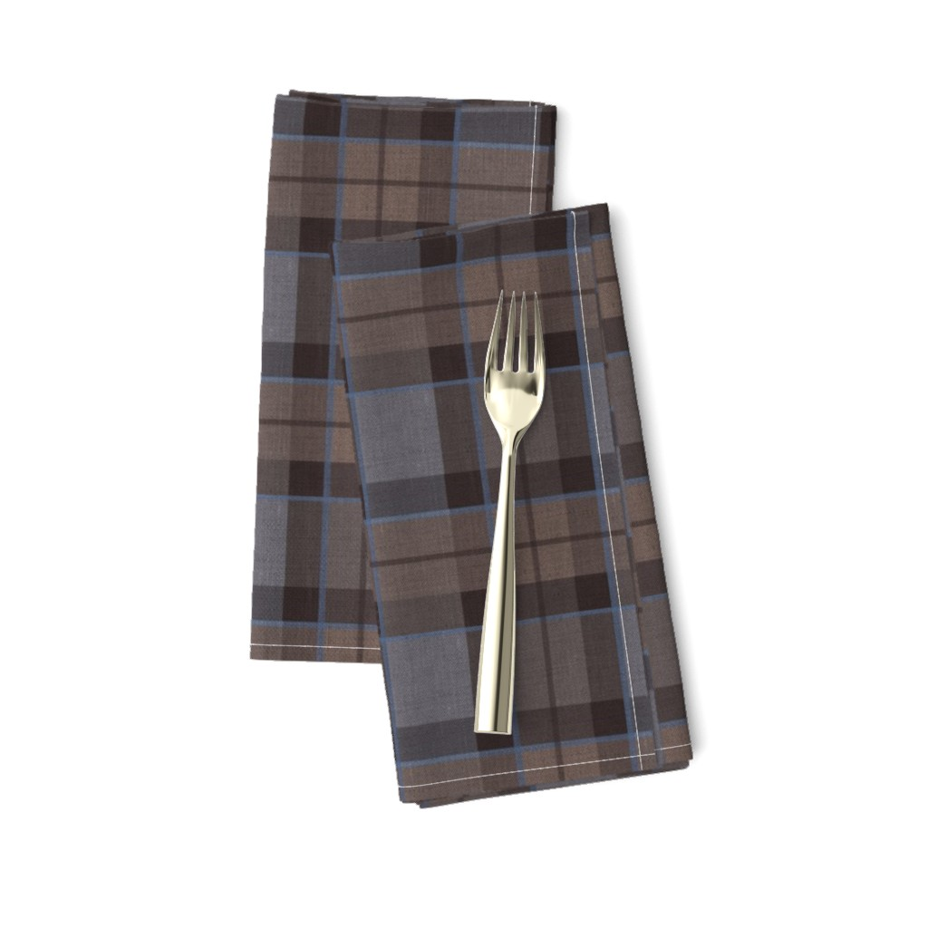 Amarela Dinner Napkins featuring Fraser Hunting tartan plaid outlander large by laurawrightstudio