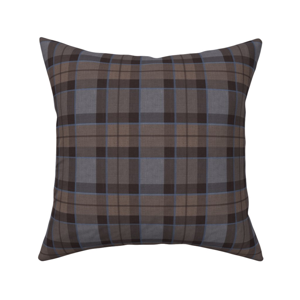Catalan Throw Pillow featuring Fraser Hunting tartan plaid outlander large by laurawrightstudio