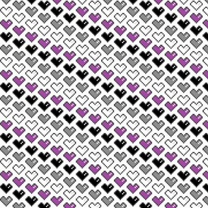 Pixel Heart (Purple, Black, Grey, White)