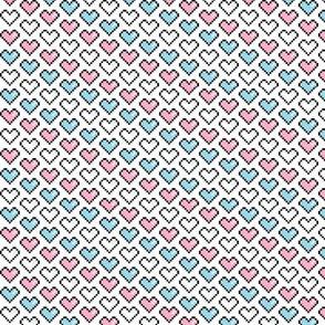 Pixel Heart (Pink, Blue, White)