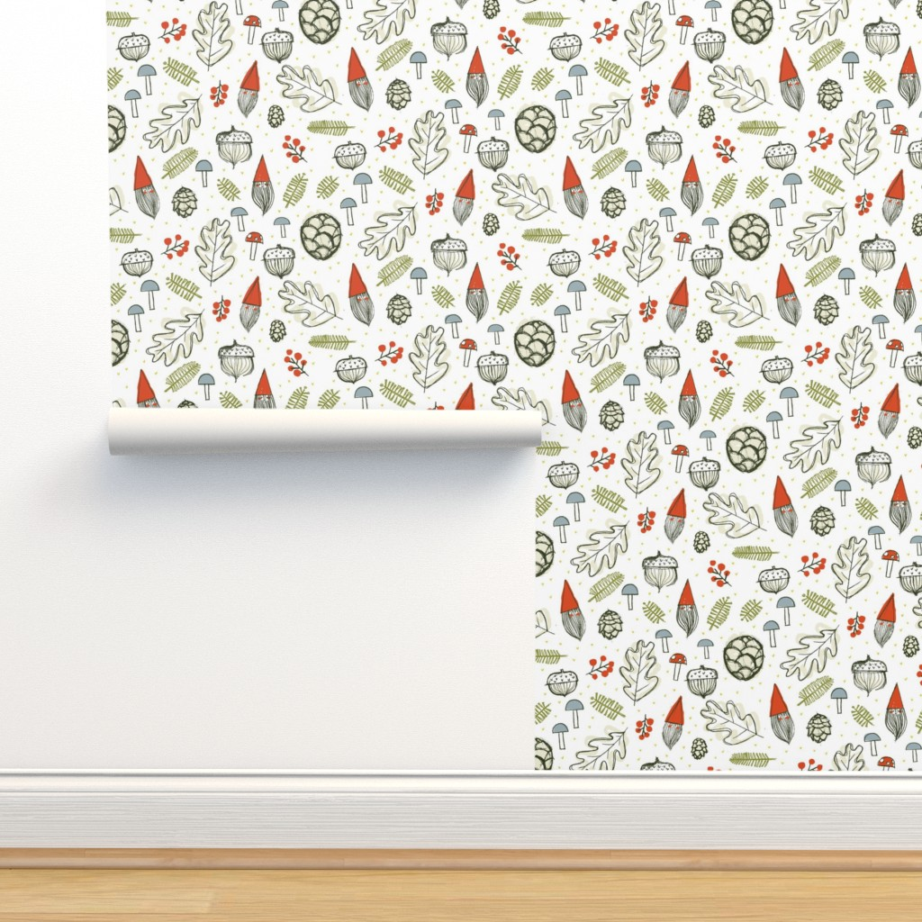 Isobar Durable Wallpaper featuring Forest Gnomes by Friztin by friztin