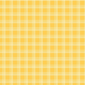 Little Pere's yellow tartan