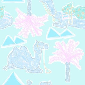 Camel Cabana in Psychedelic Blue