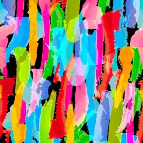 Abstract Brushstrokes 1 - Black