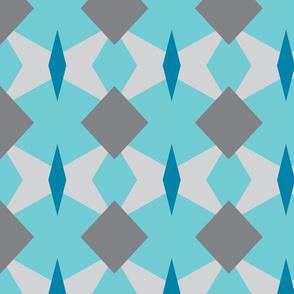grey blue geo