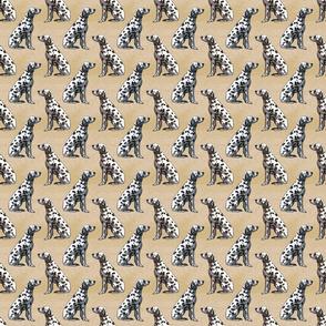 Small Sitting Dalmatians - tan