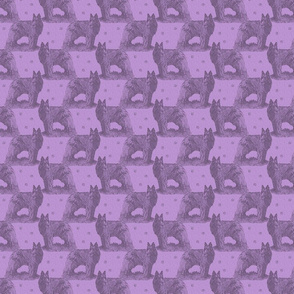 Small Belgian sheepdog standing stamp - purple