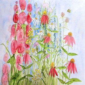 Watercolor Sunny Day Flowers